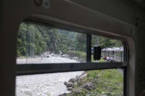 Train Window River View The Inca Trail Landscape