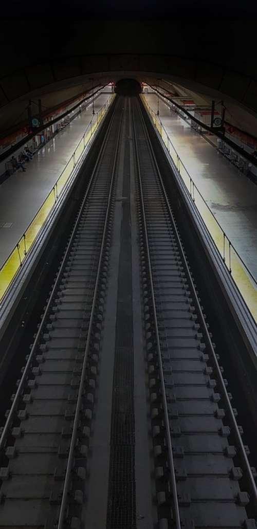 Train Roads Pathways Destination Tunnel Night