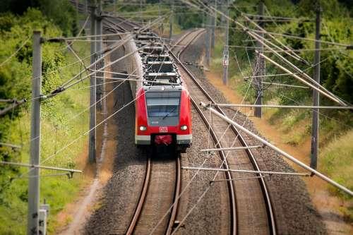Train Railway S Bahn Transport Rails Catenary