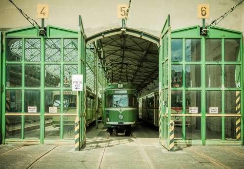 Tram Depot Dare Public Train Historically