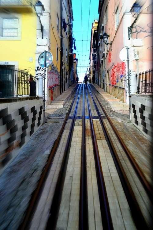 Tram Line Lisbon Travel Tram Historic Track