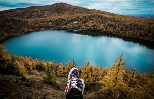 Travel Lake Feet Resting Hiking Hiker Outdoors