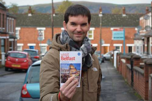 Travel Guide Tourist Man Belfast People