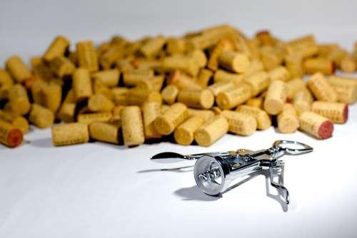 Corks Corkscrew Screw Wine Drink Alcohol Beverage