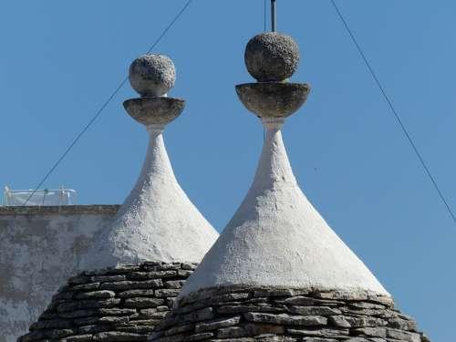 Trulli Alberobello Puglia Houses Roofs Rotunda