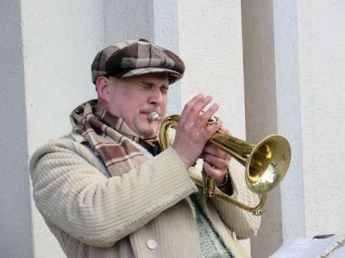 Trumpeter Musician Street Music Street Musicians