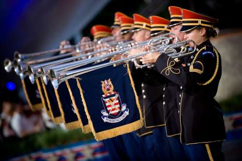 Trumpeters Heralds Soldiers Army Music Performance