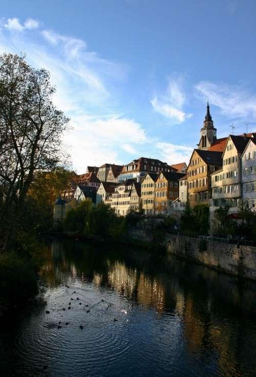 Tübingen Historic Center Neckar Houses Old
