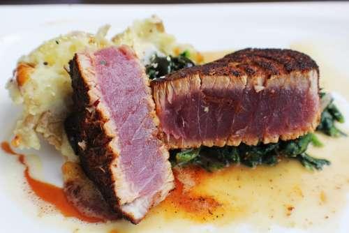 Tuna Fish Food Steak Fresh Benefit From Gourmet