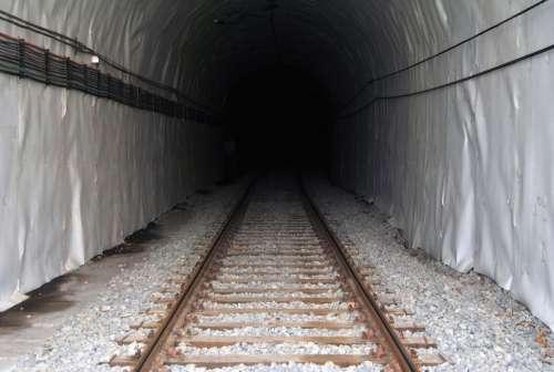 Tunnel Train Pathways Vias Transport Railway