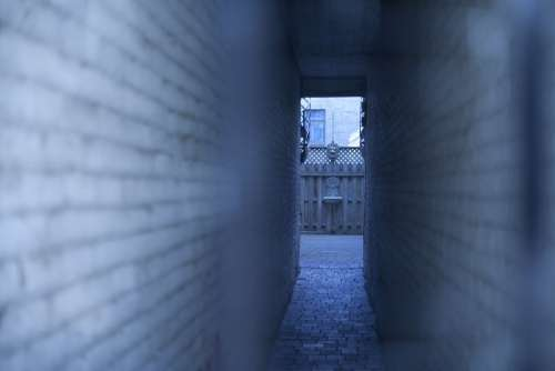 Tunnel Walls Perspective Urban