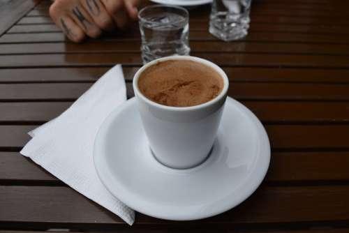 Turkish Turkey Coffee White Drink Common Caffeine