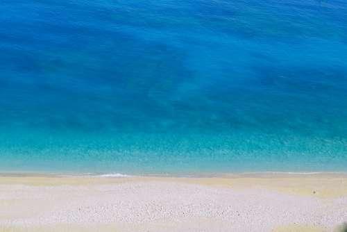Turquoise Beach Blue Myrtos Kefalonia Coastline