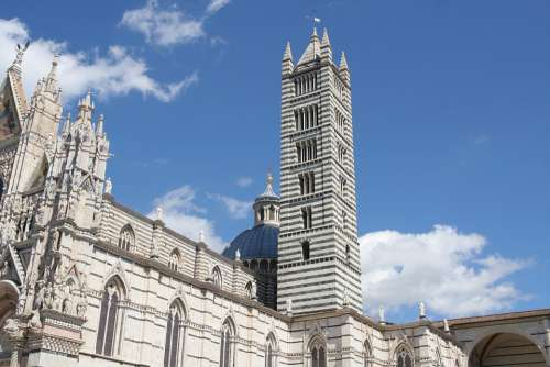 Tuscany Siena Italy The Cathedral Architecture