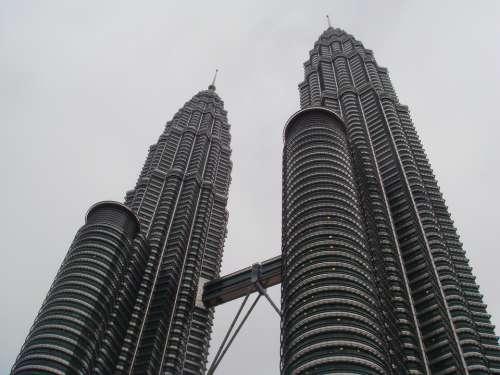 Twin Towers Kuala Lumpur Malaysia Building Asia
