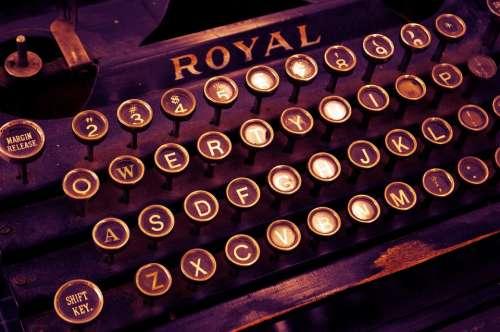 Typewriter Vintage Write Letters Letterpress Old