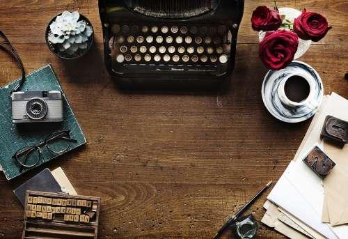 Typewriter Alphabet Vintage Historic Author