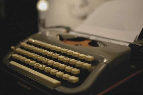 Typewriter Mechanical Retro Write Writer Letters