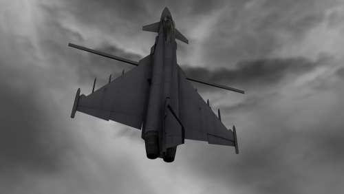 Typhoon Jet Plane Aircraft Plane Military