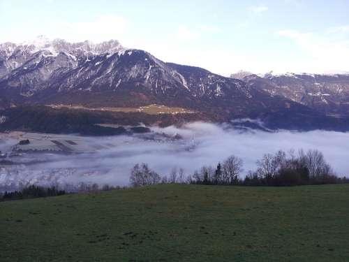Tyrol Inntal Valley Austria Alpine Vomp Panorama