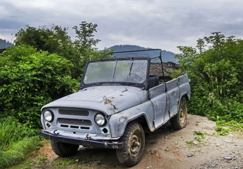 Uaz Hunter Made In Russia 4X4 Four Wheel Drive Jeep
