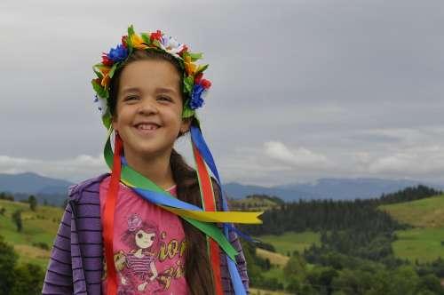 Ukraine The Carpathians Girl Wreath
