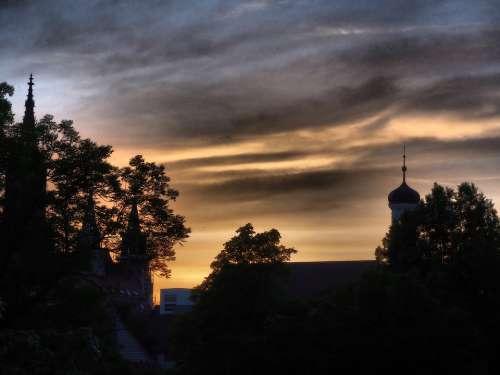 Ulm Cathedral Steeple Dramatic Hdr Ulm Sky