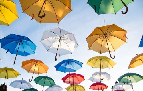 Umbrellas Sunshades Cover Colorful