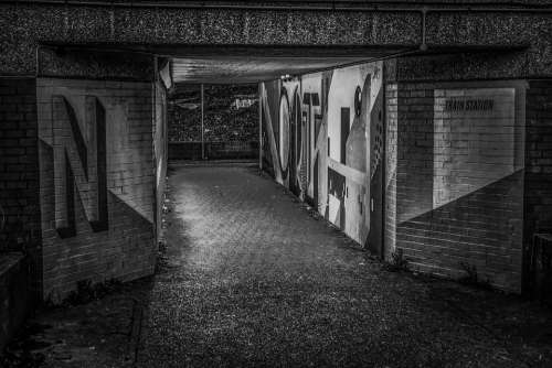 Underpass Urban Architecture Graffiti Tunnel