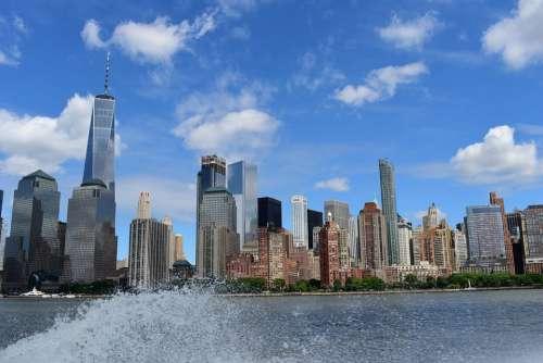 Usa Skyline City America Architecture Manhattan