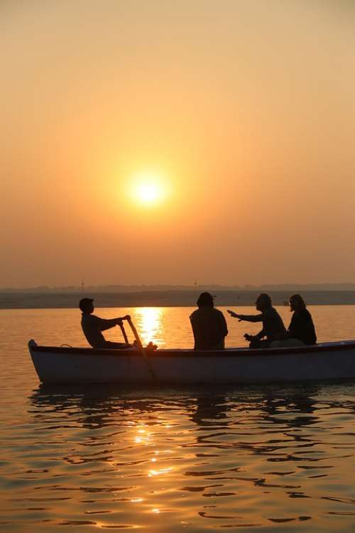 Varanasi India Ganges Spirituality Sunrise