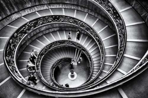 Vatican Staircase Rome Stairway Stairs Geometry