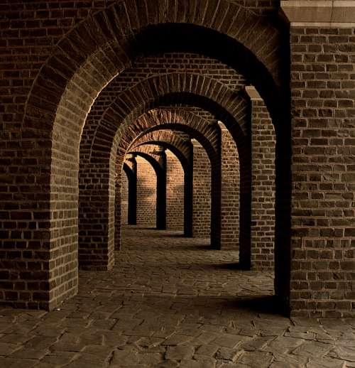 Vaulted Cellar Tunnel Arches Keller Cellar Speed