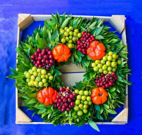 Vegetable Wreath Food Green Decoration Holiday