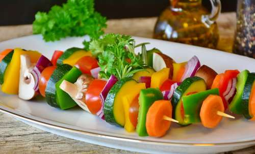 Vegetable Skewer Vegetables Grilled Vegetables Food