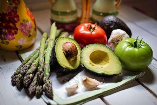 Vegetables Avocado Vegan Veggies Fresh Natural