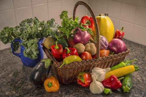 Vegetables Assortment Basket Variety Farmers Market
