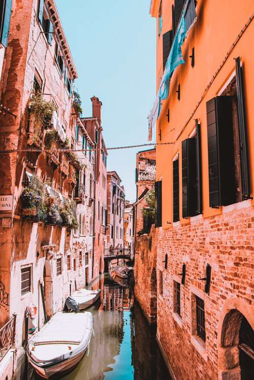 Venice Canals Architecture Italy Water City