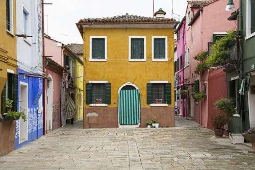 Venice House Architecture Old Building Color