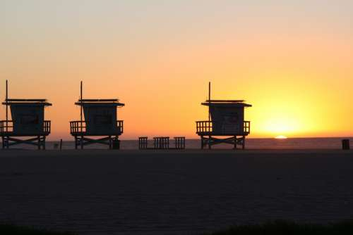 Venice Beach Sunset Los Angeles