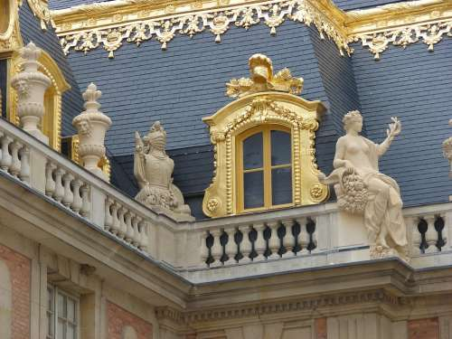 Versailles France Palace Landmark Gold Roof