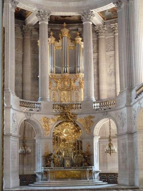 Versailles Organ Gold Palatial Church Cathedral