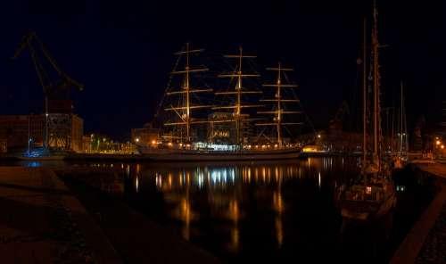 Vessel Ship Reflection Turku Aura River