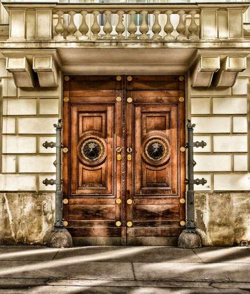 Vienna Austria Building Door Architecture Wood