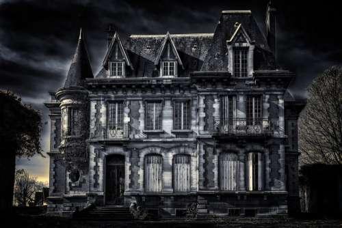 Villa House Gloomy Dark Old Villa Residence