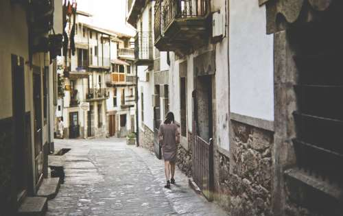 Village Street Architecture Charming Picturesque