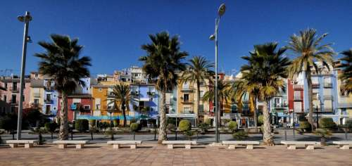 Villajoyosa Spain Houses Facades City Colors