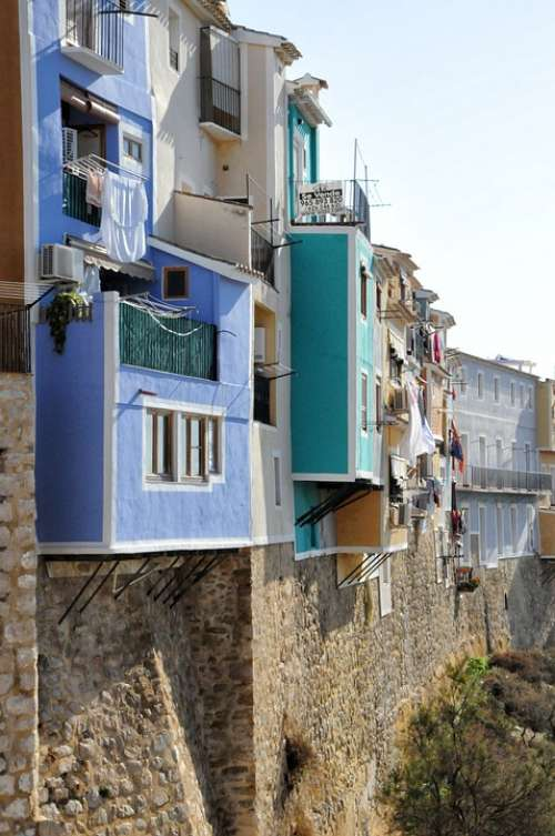 Villajoyosa Spain Houses Facades City Colors