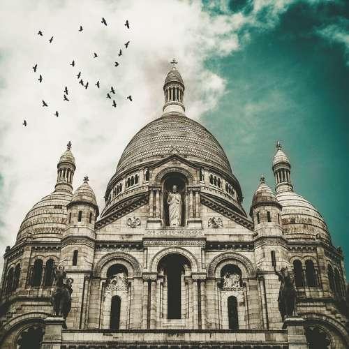 Vintage Cathedral Paris Sacre Coeur France