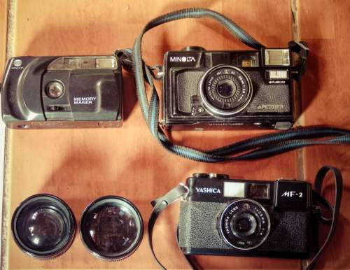 Vintage Camera Photography Style Set Symbol